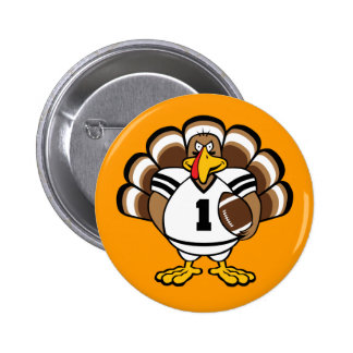 Turkey Bowl Pinback Buttons