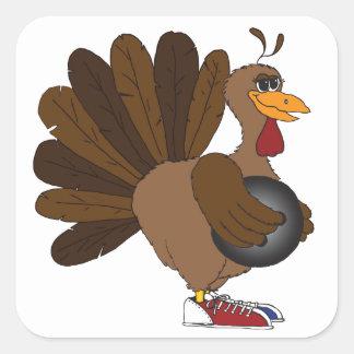 Turkey Bowl Square Sticker