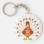 Turkey Bowler Key Chains