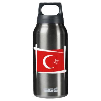 Turkey Brush Flag Insulated Water Bottle