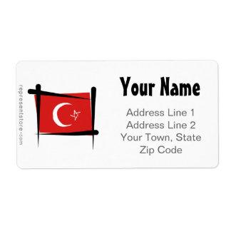 Turkey Brush Flag Label