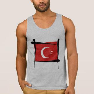 Turkey Brush Flag Tank Top