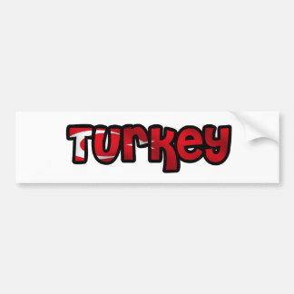 Turkey Car Bumper Sticker