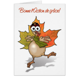 TURKEY Canadian Thanksgiving french Card