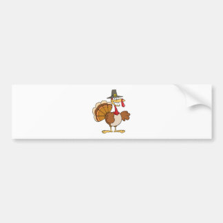 Turkey Cartoon Character Bumper Sticker