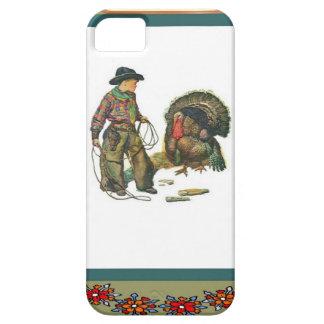 Turkey catching cowboy style iPhone SE/5/5s case