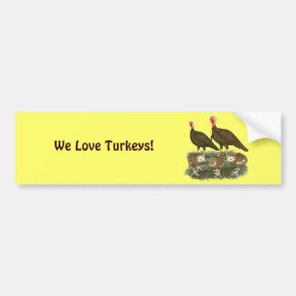 Turkey Chocolate Family Bumper Sticker