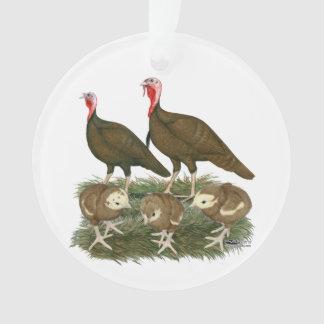 Turkey Chocolate Family Ornament