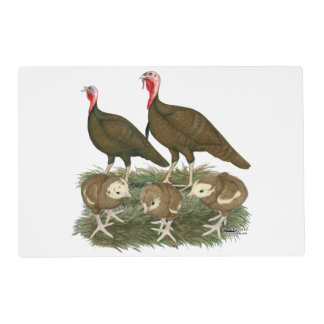 Turkey Chocolate Family Placemat