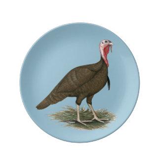 Turkey Chocolate Tom Porcelain Plate