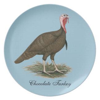Turkey Chocolate Tom Dinner Plate