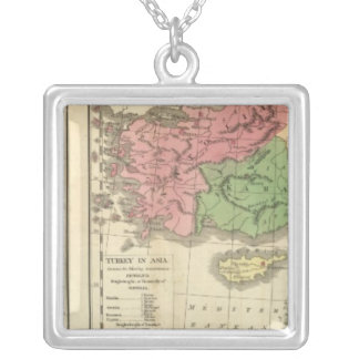 Turkey Chronological Map Silver Plated Necklace