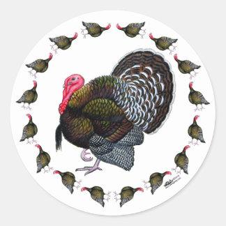 Turkey Circle Classic Round Sticker