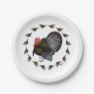 Turkey Circle 7 Inch Paper Plate