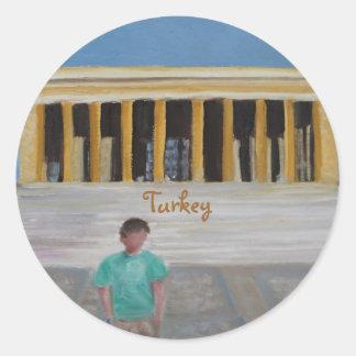 Turkey Classic Round Sticker