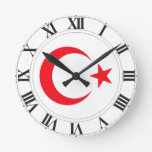 Turkey Coat of Arms Round Clock