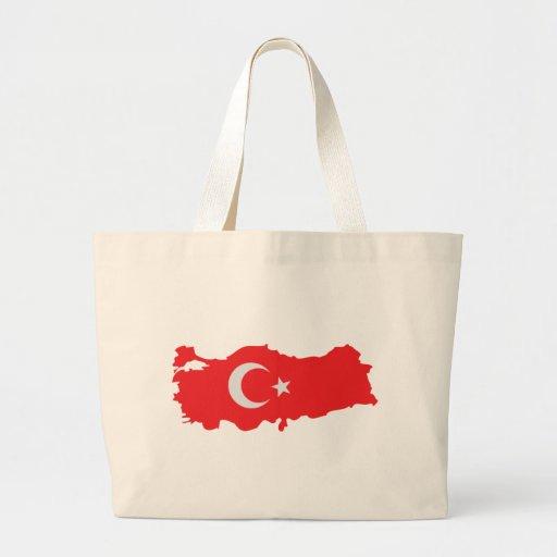 Turkey contour flag icon bag