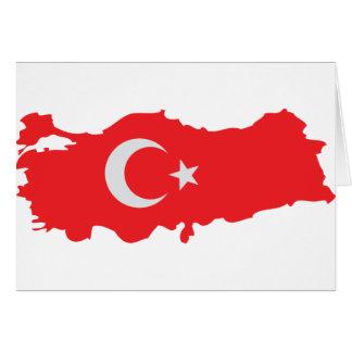 Turkey contour flag icon card
