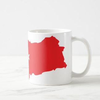 Turkey contour flag icon coffee mugs