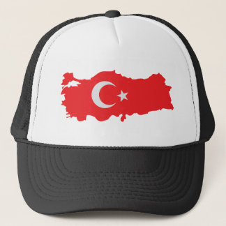 Turkey contour flag icon trucker hat