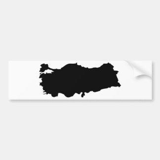 Turkey contour icon bumper sticker
