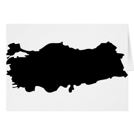 Turkey contour icon greeting card