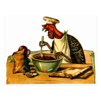 Turkey Cook Postcard