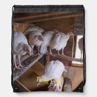 Turkey Coop Drawstring Bag
