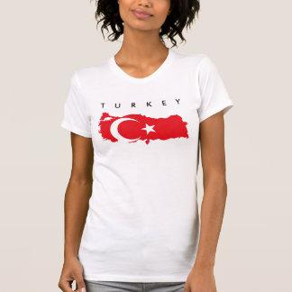 turkey country flag map shape symbol silhouette T-Shirt