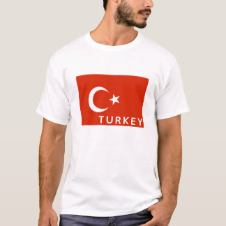 turkey country flag symbol name text T-Shirt