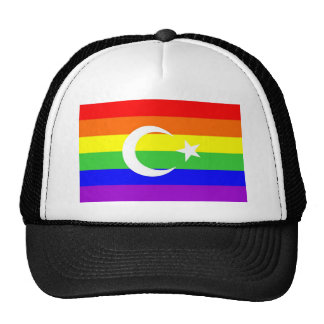 turkey country gay proud rainbow flag homosexual trucker hat