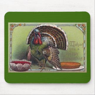 Turkey, Cranberry Sauce & Pumpkin Pie Thanksgiving Mouse Pad