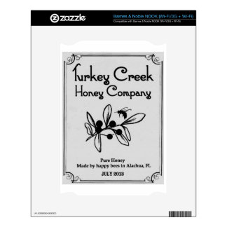 Turkey Creek Honey Company Decal For The NOOK