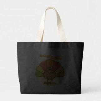 Turkey Cute Cartoon Gobble Thanksgiving Design Tote Bag