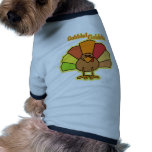 Turkey Cute Cartoon Gobble Thanksgiving Design Pet Tee