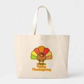 Turkey Cute Cartoon Happy Thanksgiving Design Bag
