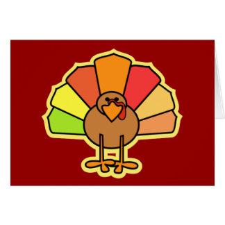 Turkey Cute Cartoon Thanksgiving Design Greeting Cards