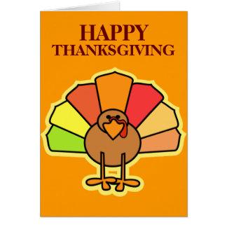Turkey Cute Cartoon Thanksgiving Design Cards