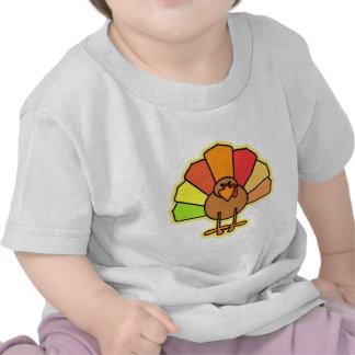 Turkey Cute Cartoon Thanksgiving Design Tees