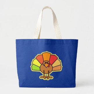 Turkey Cute Cartoon Thanksgiving Design Tote Bag