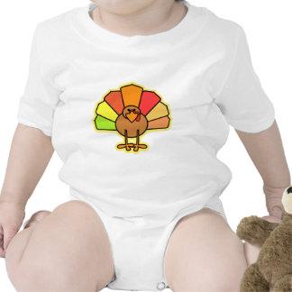 Turkey Cute Cartoon Thanksgiving Design Baby Creeper