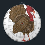 """Turkey Dart Board<br><div class=""""desc"""">Is your table ready for turkey dinner? This festive design is perfect on gifts,  table runners,  kitchen linens,  home decor and on all things Thanksgiving!</div>"""
