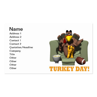 Turkey Day Double-Sided Standard Business Cards (Pack Of 100)