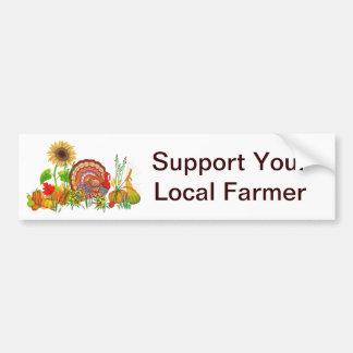 Turkey Day Car Bumper Sticker
