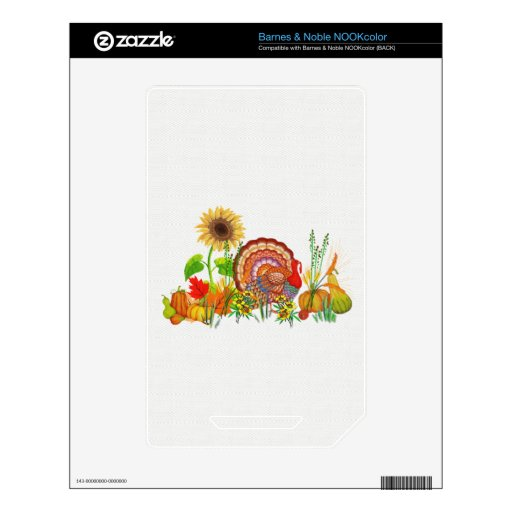 Turkey Day Decal For The NOOK Color