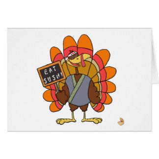 Turkey day Eat Sushi Card