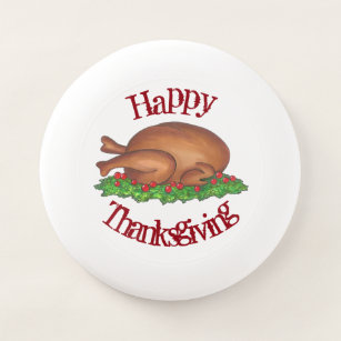 Turkey Day Happy Thanksgiving Dinner Platter Favor Wham-O Frisbee a66a6a047969