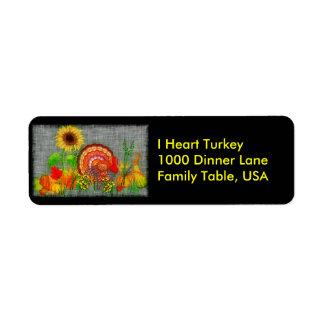 Turkey Day Return Address Label