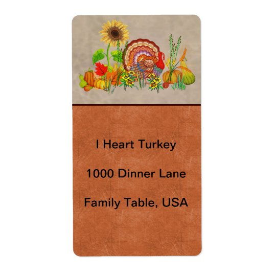 Turkey Day Label