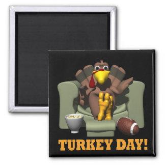Turkey Day Fridge Magnet